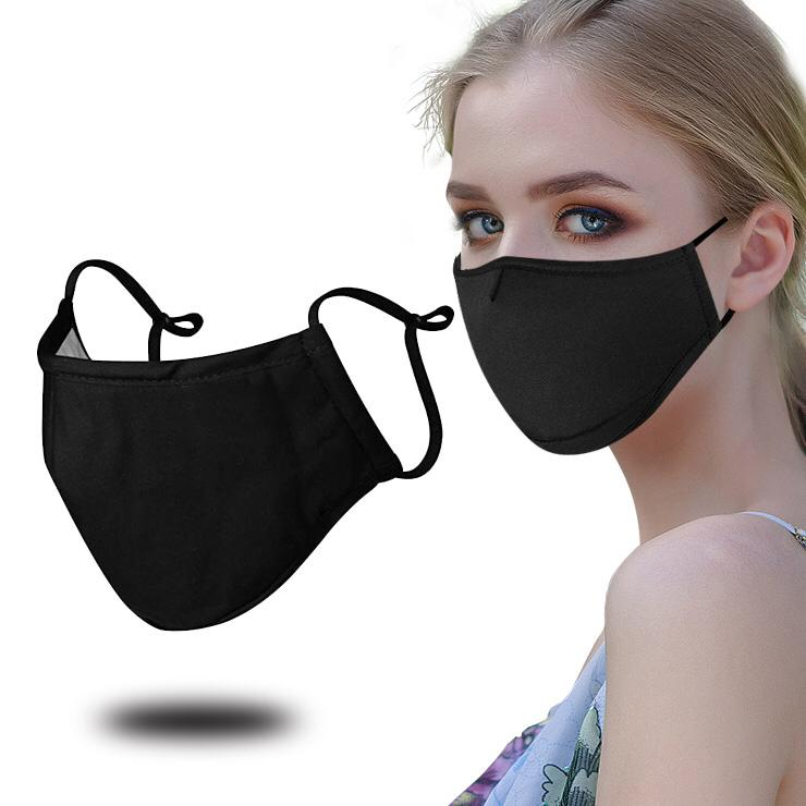 Luxury Mask Unisex Adult Cotton Face Mask Washable Blend Ear Loop Face Mask Navy Blue