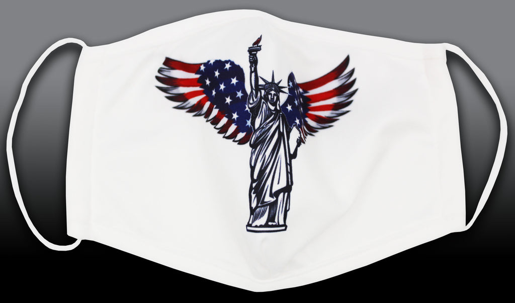 Luxury Mask Statue of Liberty American Flag Ear Loop Face Mask
