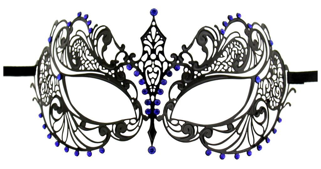 BLACK Series Laser Cut Metal Venetian Pretty Masquerade Mask - Luxury Mask - 3