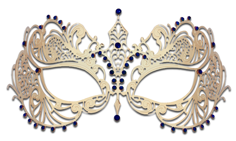 GOLD Series Laser Cut Metal Venetian Pretty Masquerade Mask - Luxury Mask - 4