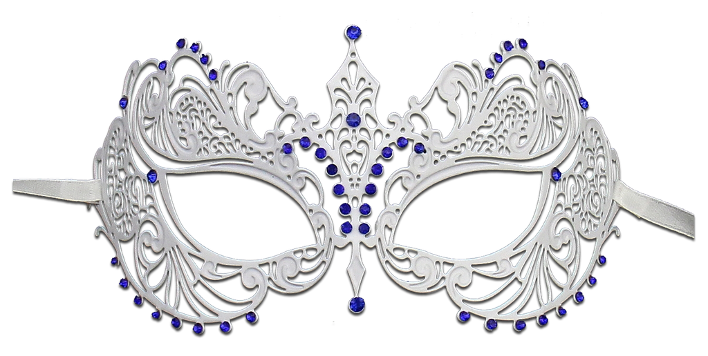 WHITE Series Laser Cut Metal Venetian Pretty Masquerade Mask - Luxury Mask - 3