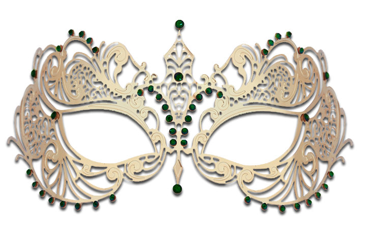 GOLD Series Laser Cut Metal Venetian Pretty Masquerade Mask - Luxury Mask - 7