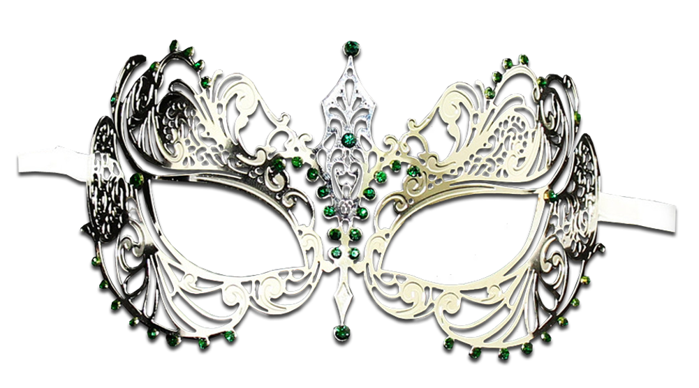 SILVER Series Laser Cut Metal Venetian Pretty Masquerade Mask - Luxury Mask - 7