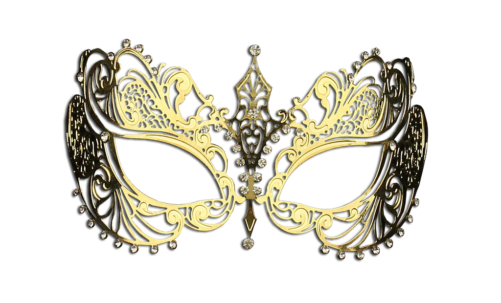 GOLD Series Laser Cut Metal Venetian Pretty Masquerade Mask - Luxury Mask - 2