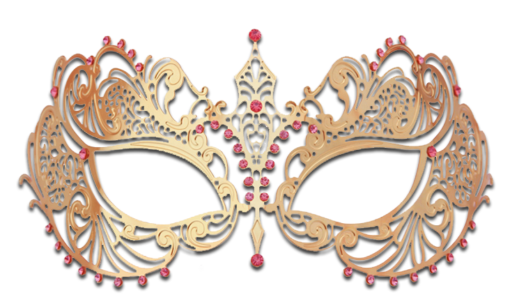 GOLD Series Laser Cut Metal Venetian Pretty Masquerade Mask - Luxury Mask - 6