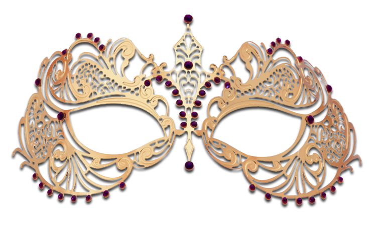 GOLD Series Laser Cut Metal Venetian Pretty Masquerade Mask - Luxury Mask - 5