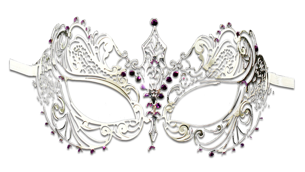 SILVER Series Laser Cut Metal Venetian Pretty Masquerade Mask - Luxury Mask - 5