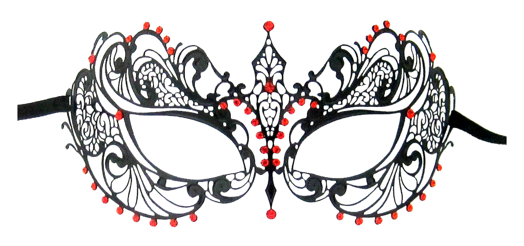 BLACK Series Laser Cut Metal Venetian Pretty Masquerade Mask - Luxury Mask - 2