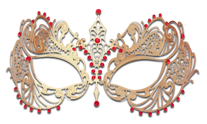 GOLD Series Laser Cut Metal Venetian Pretty Masquerade Mask - Luxury Mask - 3