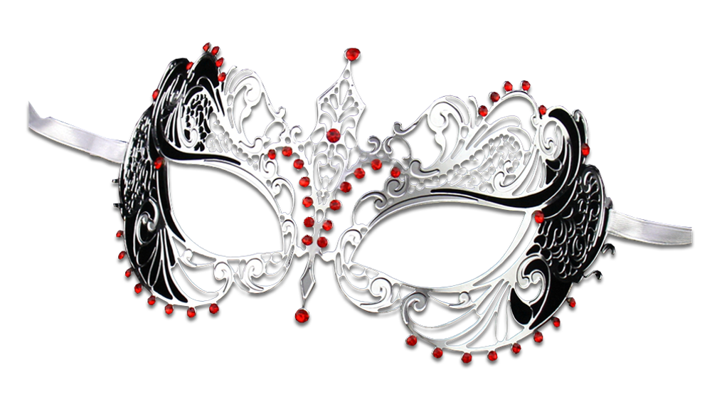 SILVER Series Laser Cut Metal Venetian Pretty Masquerade Mask - Luxury Mask - 3