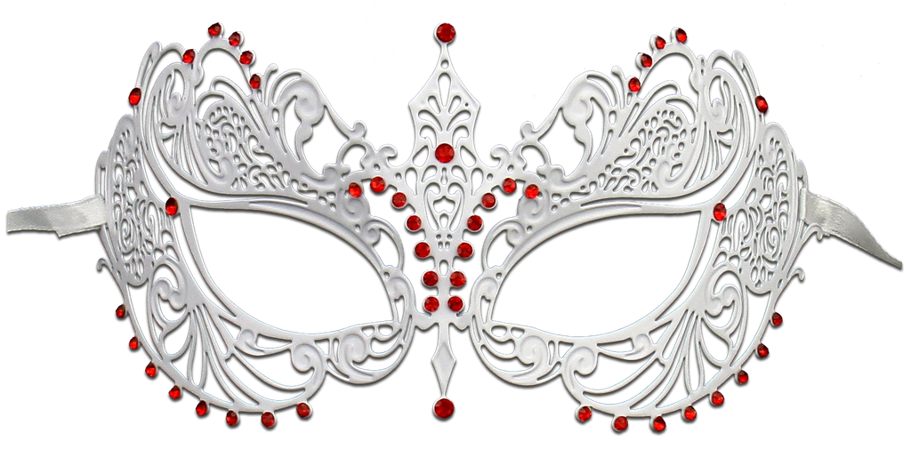 WHITE Series Laser Cut Metal Venetian Pretty Masquerade Mask - Luxury Mask - 2