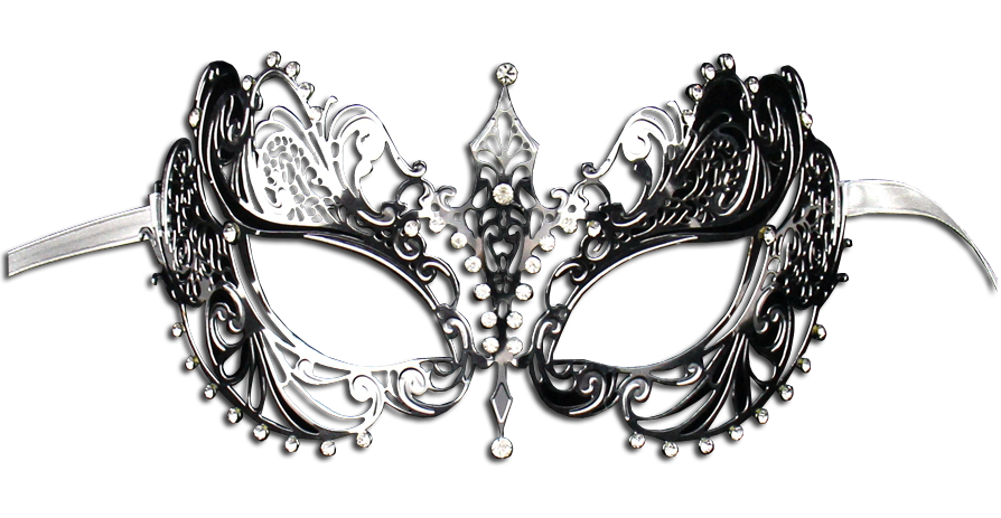 SILVER Series Laser Cut Metal Venetian Pretty Masquerade Mask - Luxury Mask - 2
