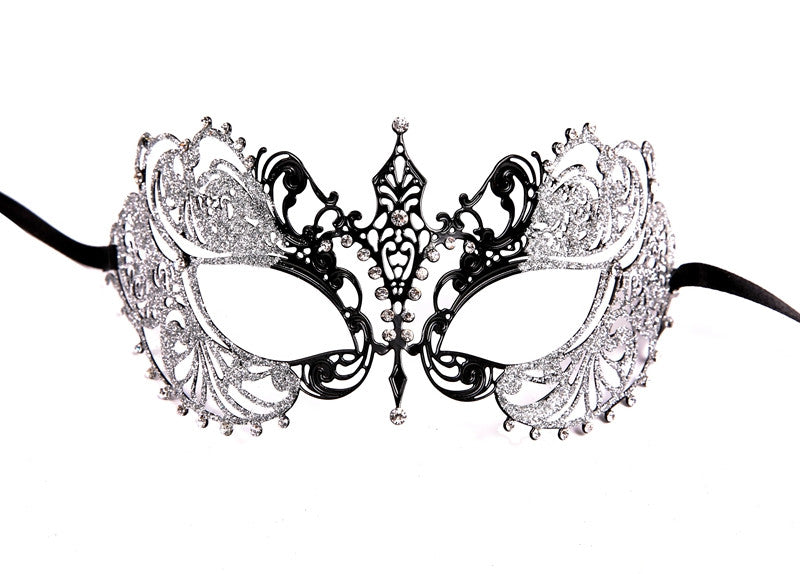 GLITTER Series Laser Cut Metal Venetian Pretty Masquerade Mask - Luxury Mask - 8