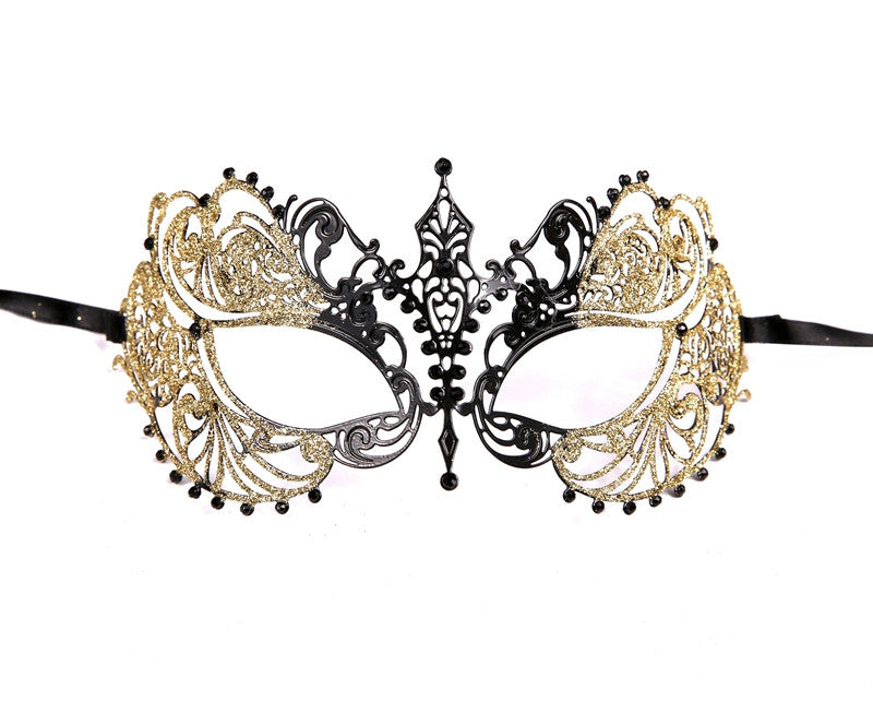 GLITTER Series Laser Cut Metal Venetian Pretty Masquerade Mask - Luxury Mask - 5