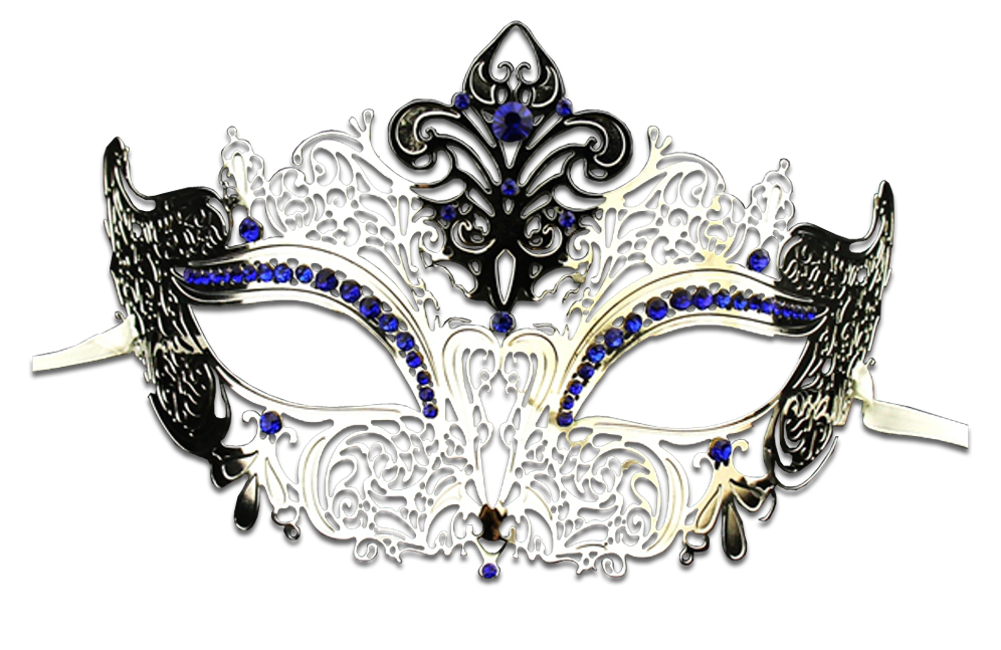 Silver Series Women's Laser Cut Metal Venetian Masquerade Crown Mask - Luxury Mask - 4