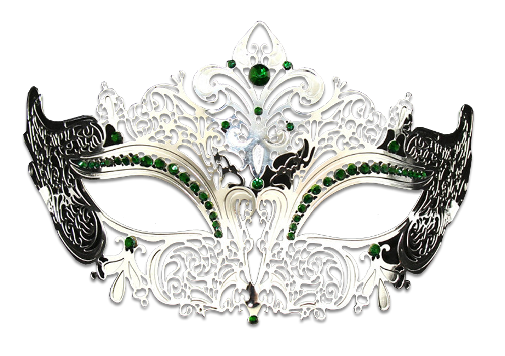 Silver Series Women's Laser Cut Metal Venetian Masquerade Crown Mask - Luxury Mask - 7