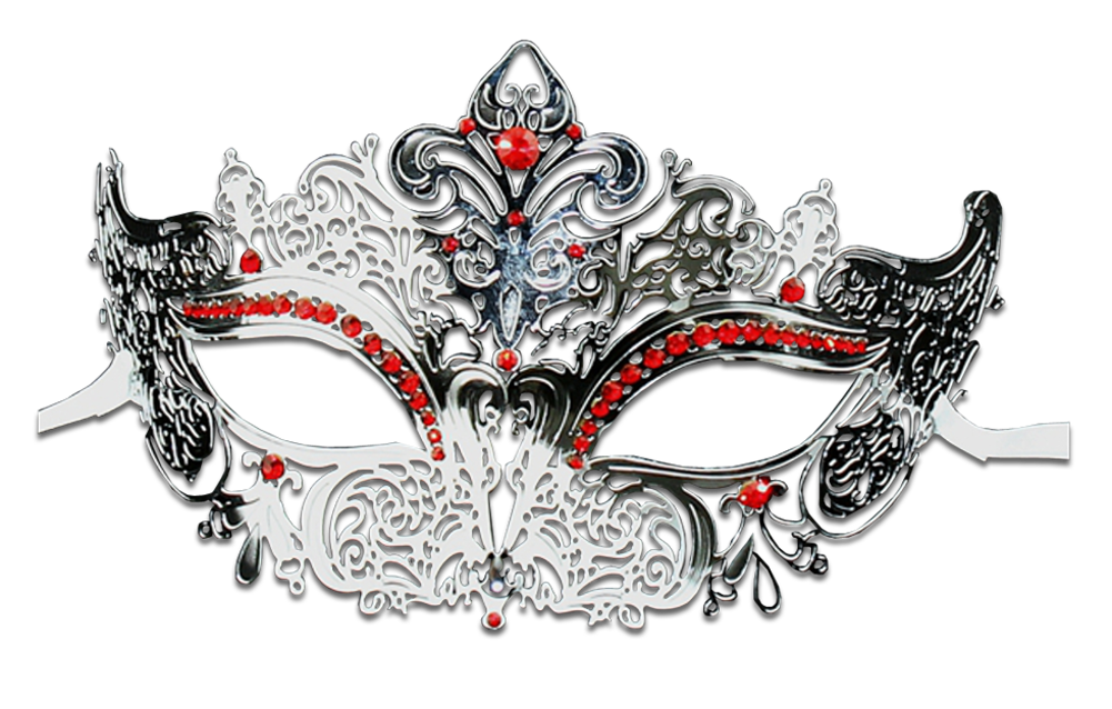 Silver Series Women's Laser Cut Metal Venetian Masquerade Crown Mask - Luxury Mask - 3