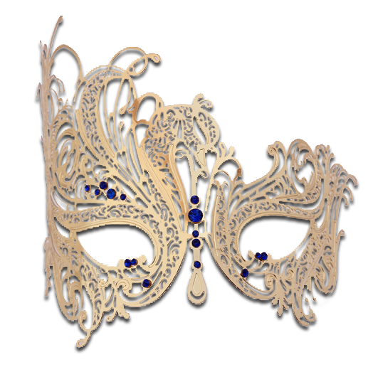 Gold Series Swan Metal Filigree Laser Cut Venetian Masquerade Mask - Luxury Mask - 4