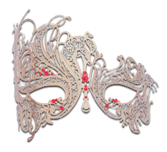 Gold Series Swan Metal Filigree Laser Cut Venetian Masquerade Mask - Luxury Mask - 3