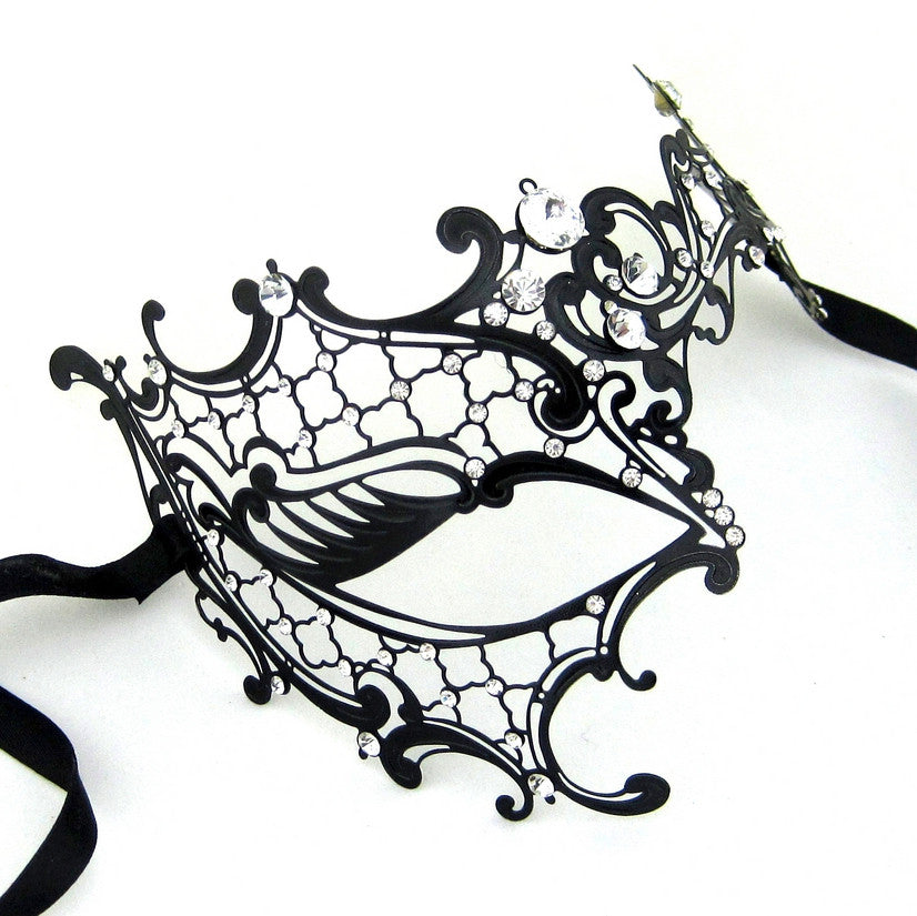 BLACK Series Signature Phantom Of The Opera Venetian Womens masquerade Mask - Luxury Mask - 3