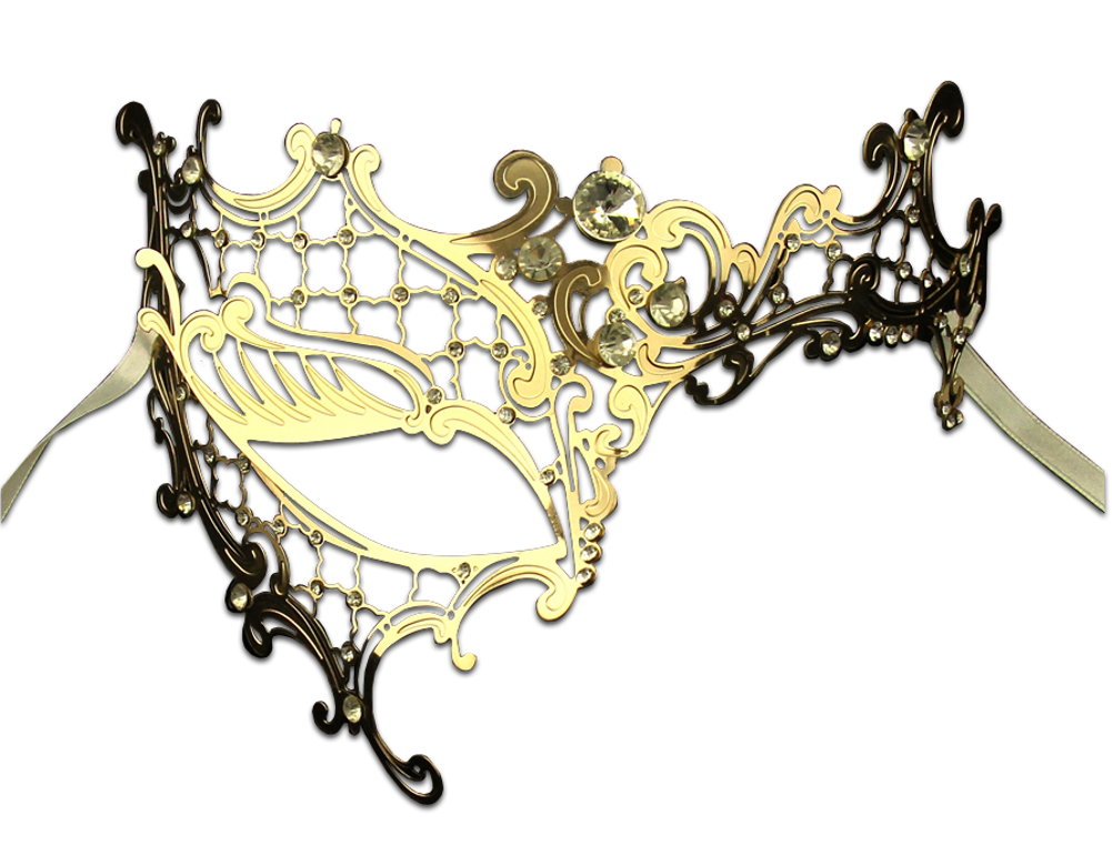 GOLD Series Signature Phantom Of The Opera Venetian Mask - Luxury Mask - 2