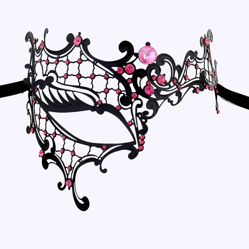 BLACK Series Signature Phantom Of The Opera Venetian Womens masquerade Mask - Luxury Mask - 7