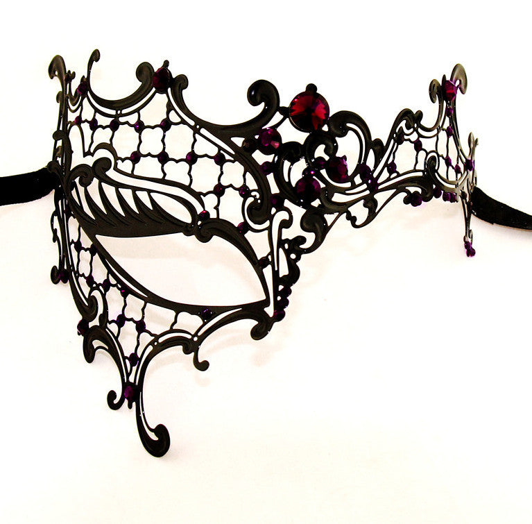 BLACK Series Signature Phantom Of The Opera Venetian Womens masquerade Mask - Luxury Mask - 6