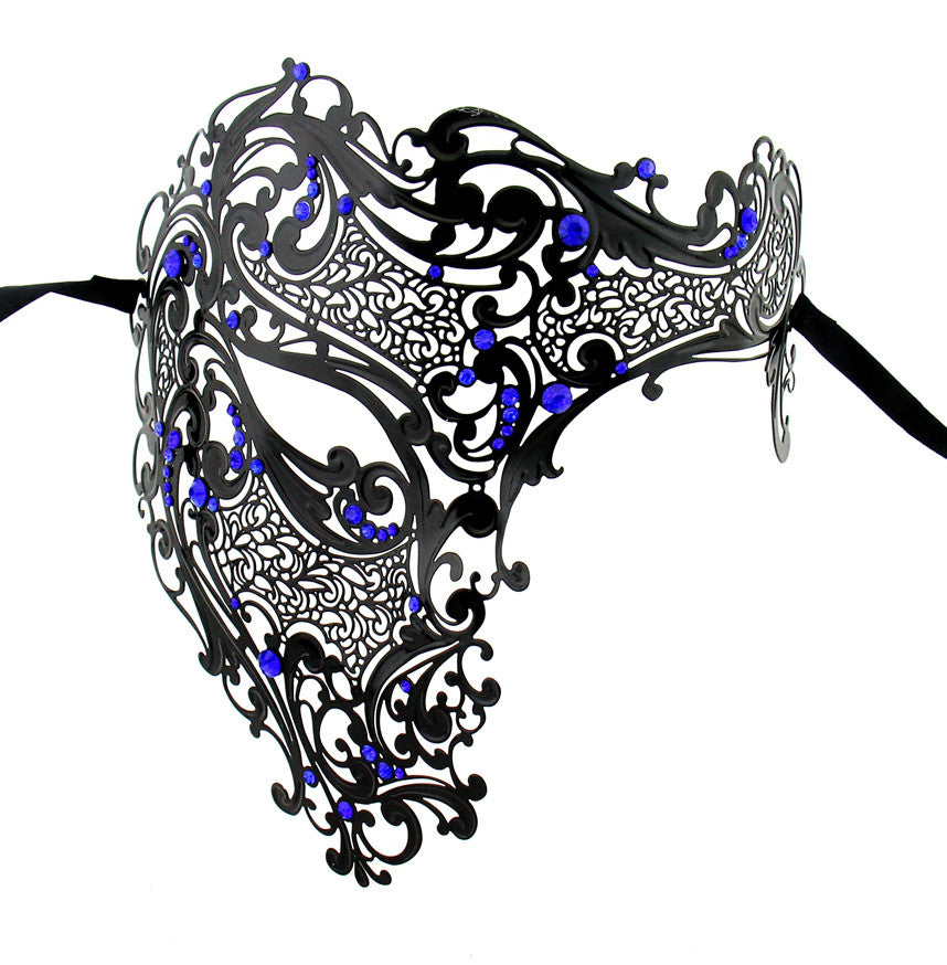 BLACK Series Men's Signature Phantom Of The Opera Half Face Masquerade Mask - Luxury Mask - 4