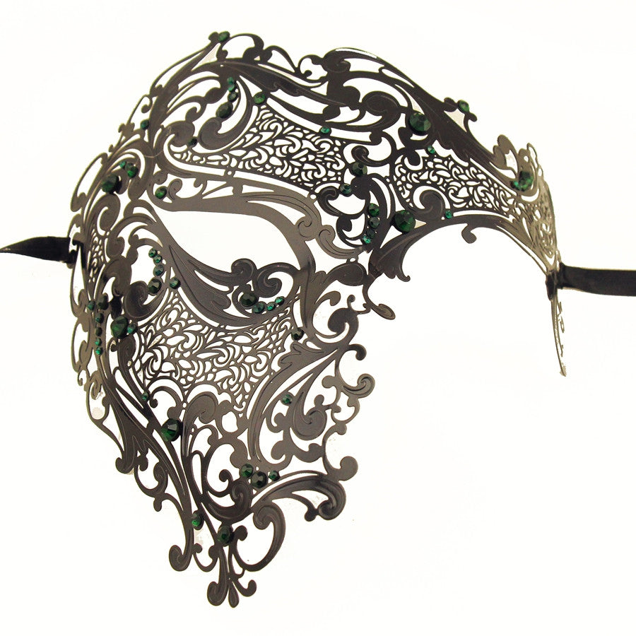 BLACK Series Men's Signature Phantom Of The Opera Half Face Masquerade Mask - Luxury Mask - 6