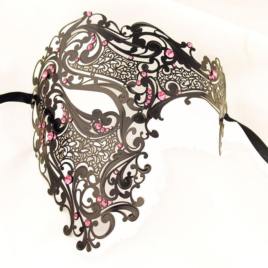 BLACK Series Men's Signature Phantom Of The Opera Half Face Masquerade Mask - Luxury Mask - 7