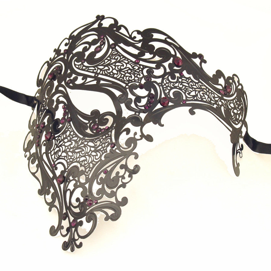 BLACK Series Men's Signature Phantom Of The Opera Half Face Masquerade Mask - Luxury Mask - 5