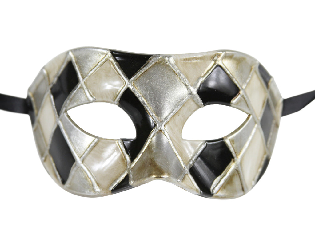 CHECKERED Multi Color Vintage Design Masquerade Mask - Luxury Mask - 2