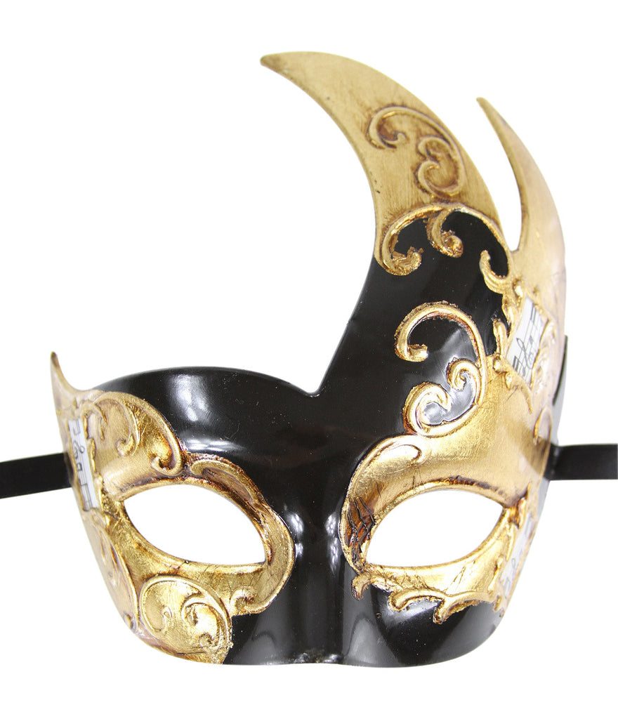 GOLD Series Men's Vintage Design Musical Masquerade Mask - Luxury Mask - 2