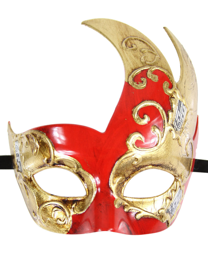 GOLD Series Men's Vintage Design Musical Masquerade Mask - Luxury Mask - 3