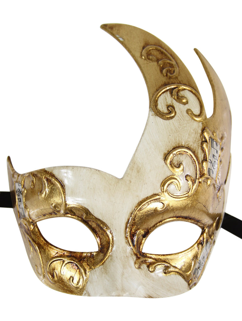 GOLD Series Men's Vintage Design Musical Masquerade Mask - Luxury Mask - 5