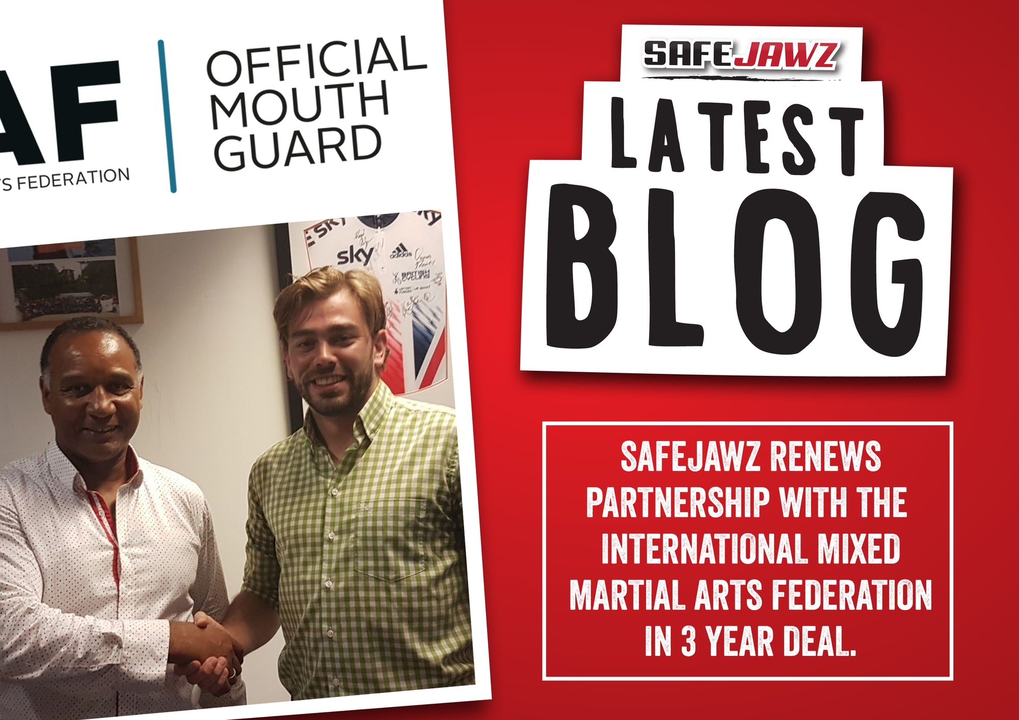 SAFEJAWZ Renew Partnership with the International Mixed Martial Arts Federation.