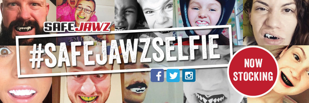 safejawzselfie designed mouth guards gum shields with teeth