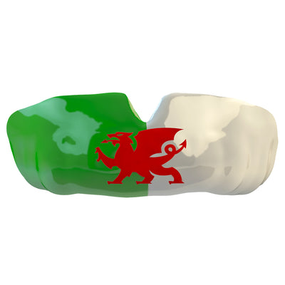 SAFEJAWZ® Popular Design Custom-fit Mouthguard - The David. Wales Flag Gum Shield. - SAFEJAWZ gum shield