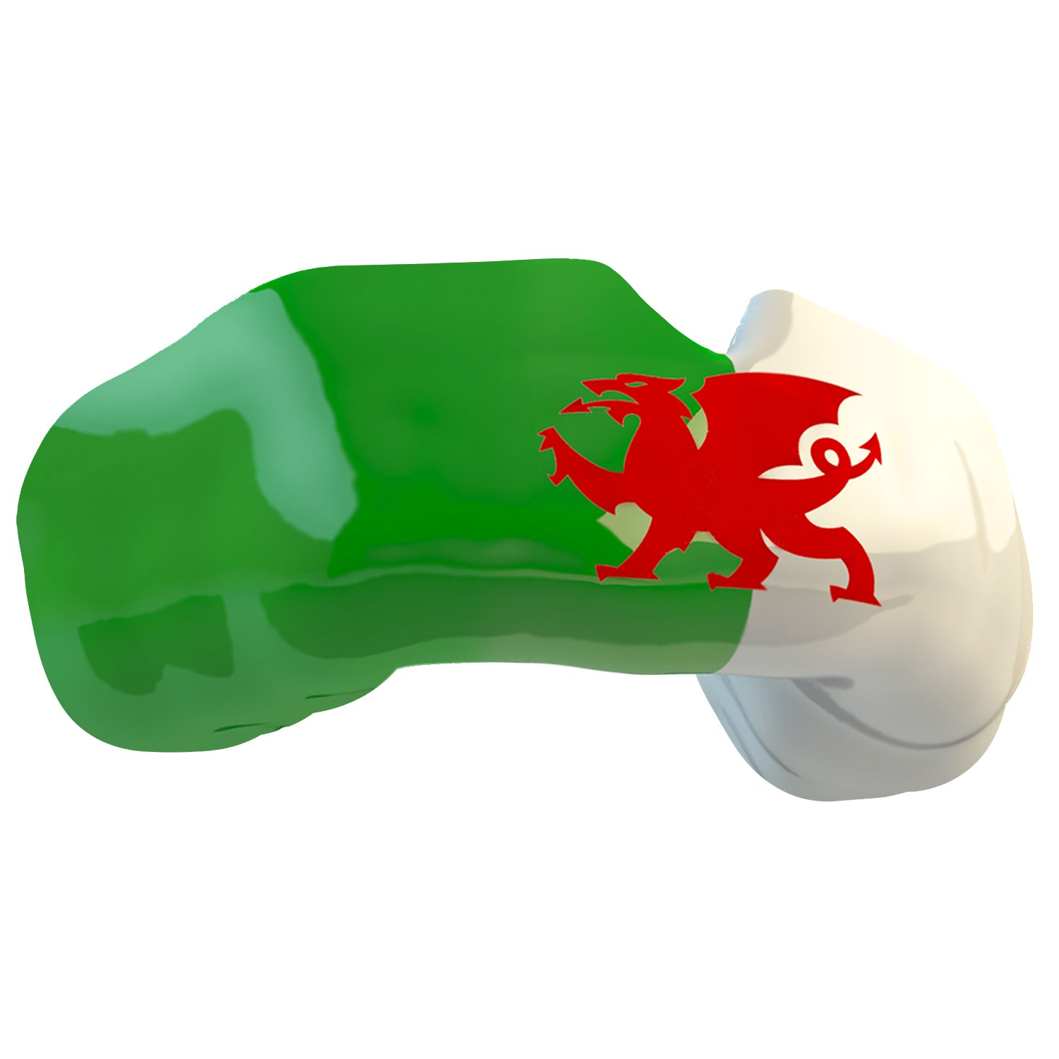 SAFEJAWZ® Popular Design Custom-fit Mouthguard - The David. Wales Flag Gum Shield.