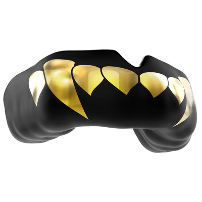 SAFEJAWZ® Popular Design Custom-fit Mouthguard - Gold Fangz - SAFEJAWZ gum shield