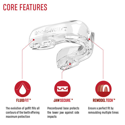 SAFEJAWZ® Intro Series - Clear - SAFEJAWZ gum shield