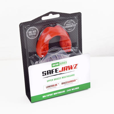 SAFEJAWZ® Ortho Series Self-Fit Mouthguard for Braces - Red - SAFEJAWZ gum shield