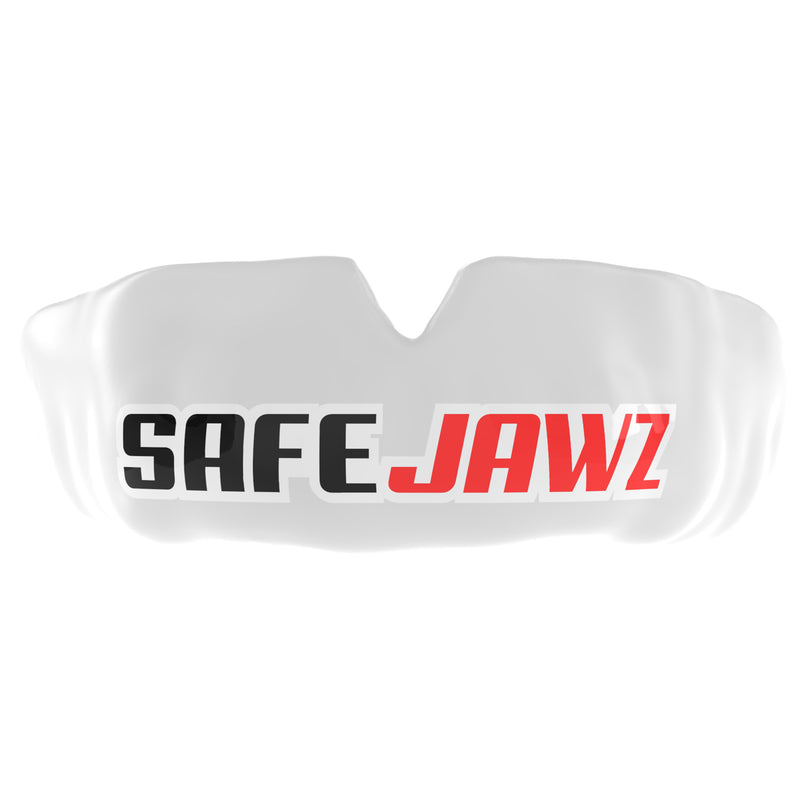 SAFEJAWZ® Popular Design Custom-fit Mouthguard - White SAFEJAWZ®Logo