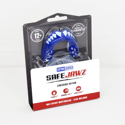 SAFEJAWZ® Extro Series Self-Fit Shark Mouthguard - SAFEJAWZ gum shield