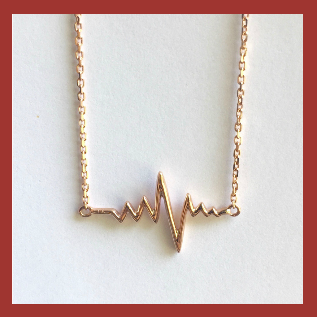 Heartbeat Necklace - Rose, Yellow or White Gold