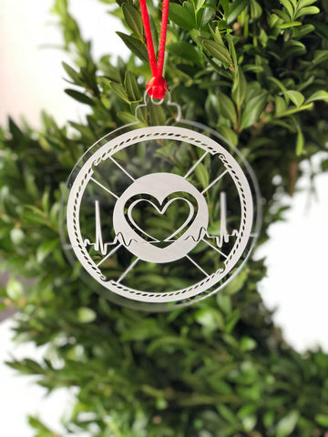 Save the Heartbeat Ornament - Birch Wood or Acrylic