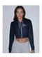 2150 Cropped Hooded Sweat Black