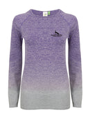 2150 Women's seamless fade out long sleeve top