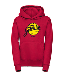 Youth hoodie rood