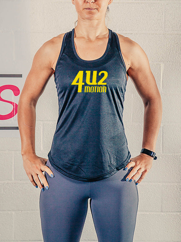 4U2 Training Vest Black n Gold Motion